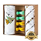 100% Organic Cotton, DOUBLE LAYER, Muslin Swaddle Blankets By Citrus&Wheat - ...